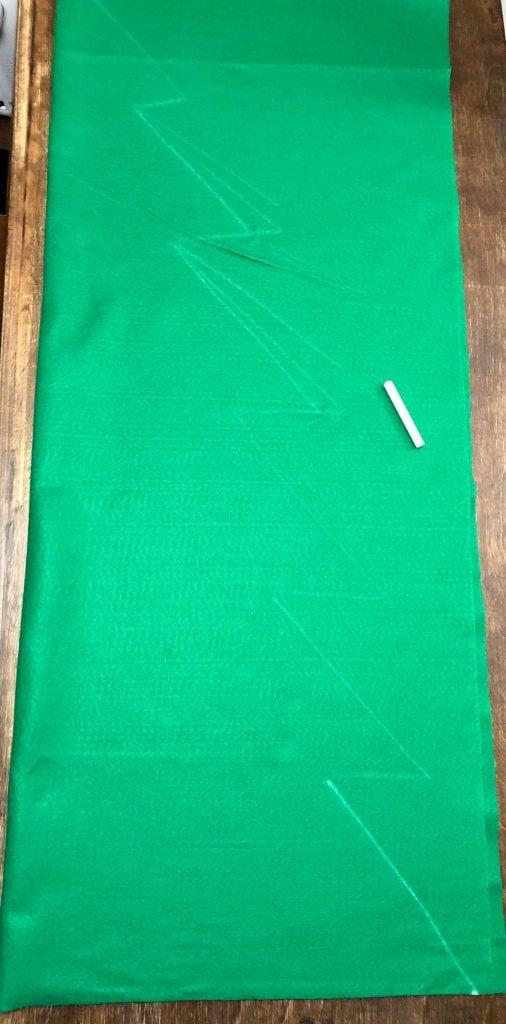 make tree shape on fabric