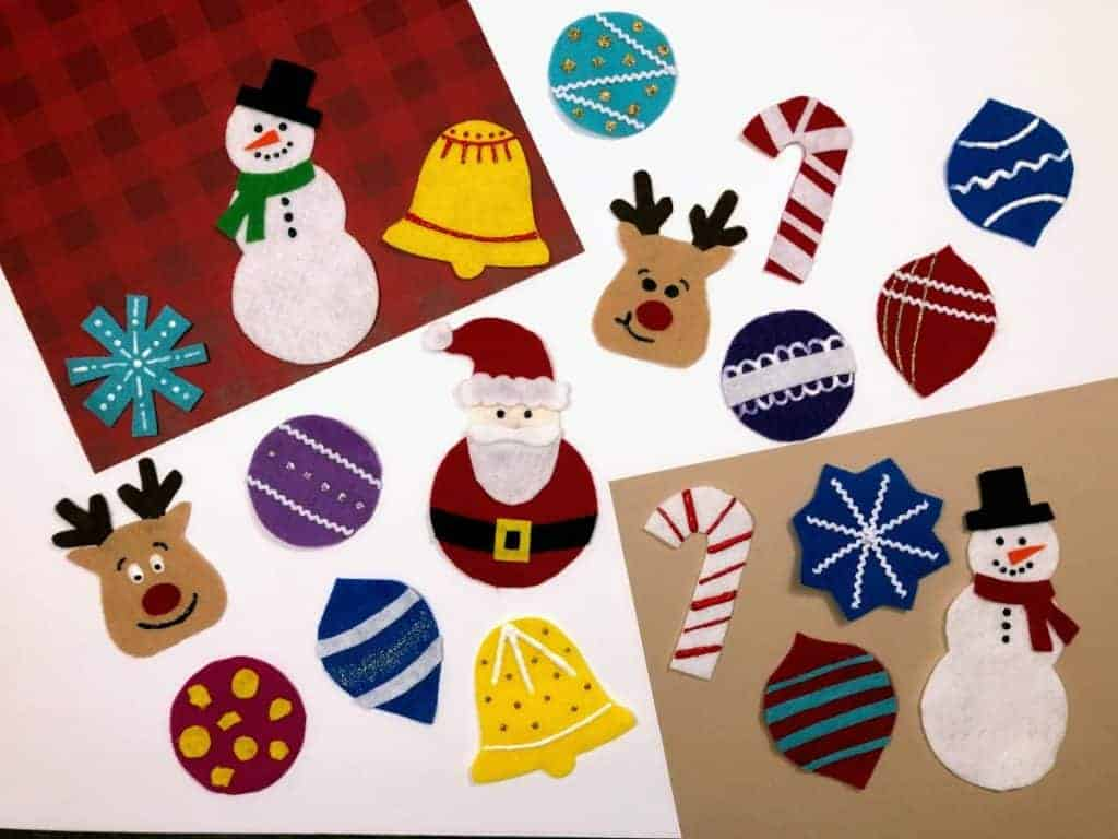 cut out fabric for ornaments