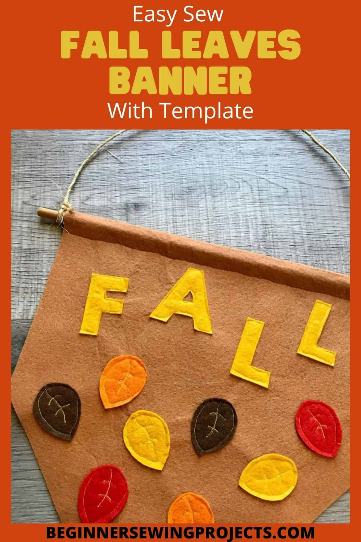 Easy Sew Fall Leaves Banner WIth Template