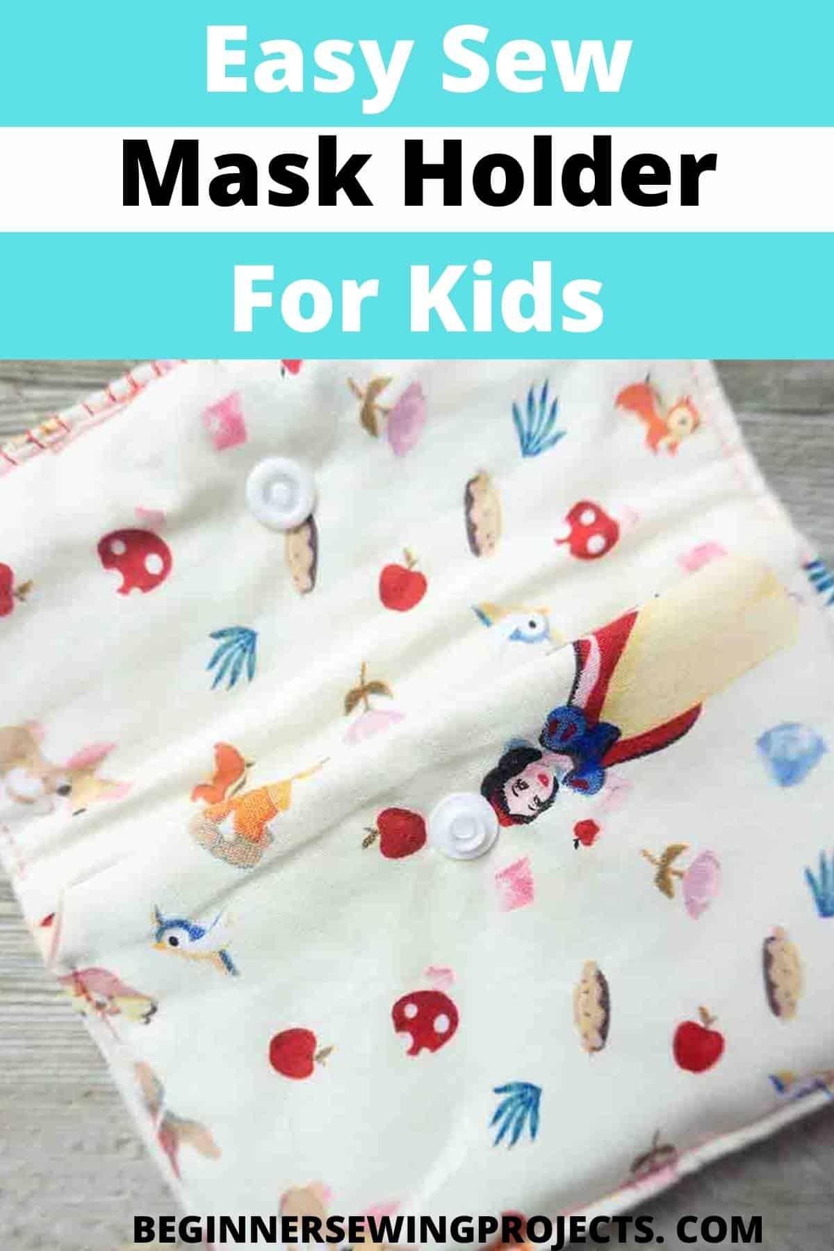 Easy Sew Mask Holder For Kids!