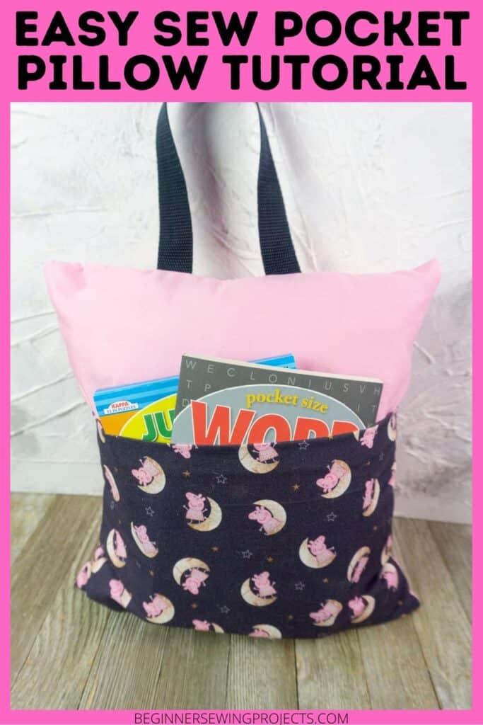 Easy Sew Pocket Pillow Tutorial