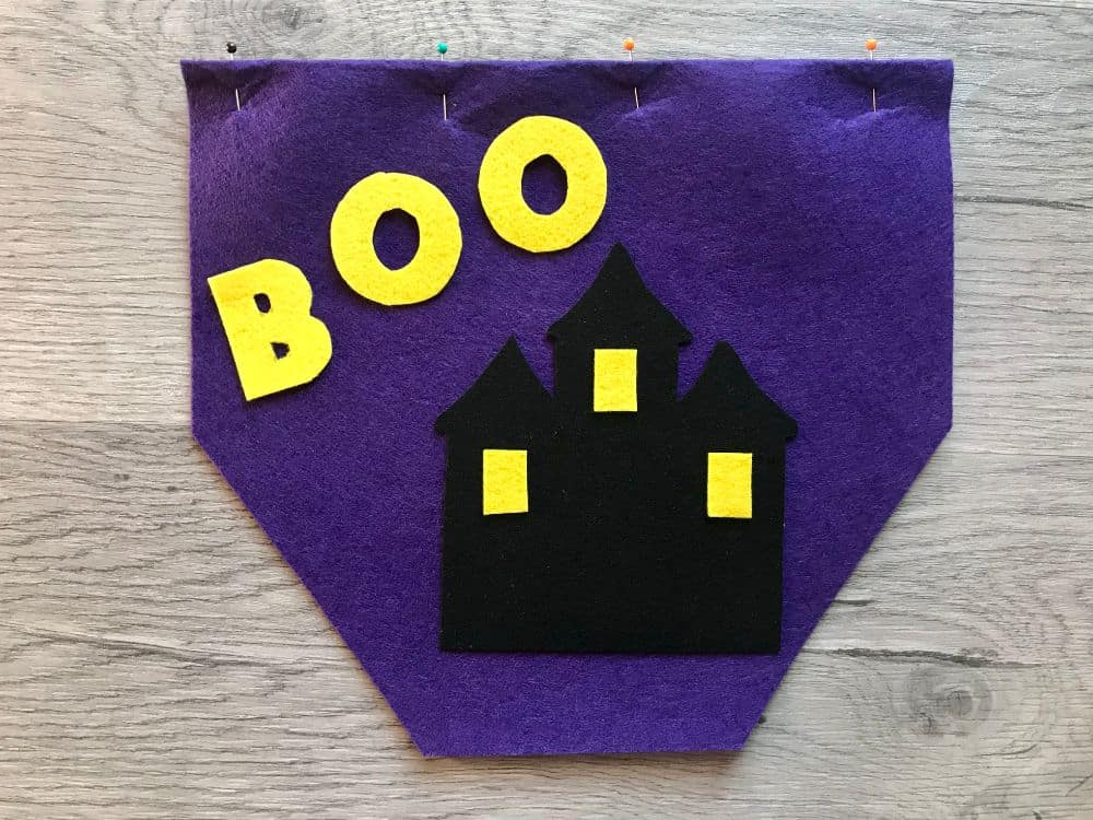 use template to cut out felt pieces