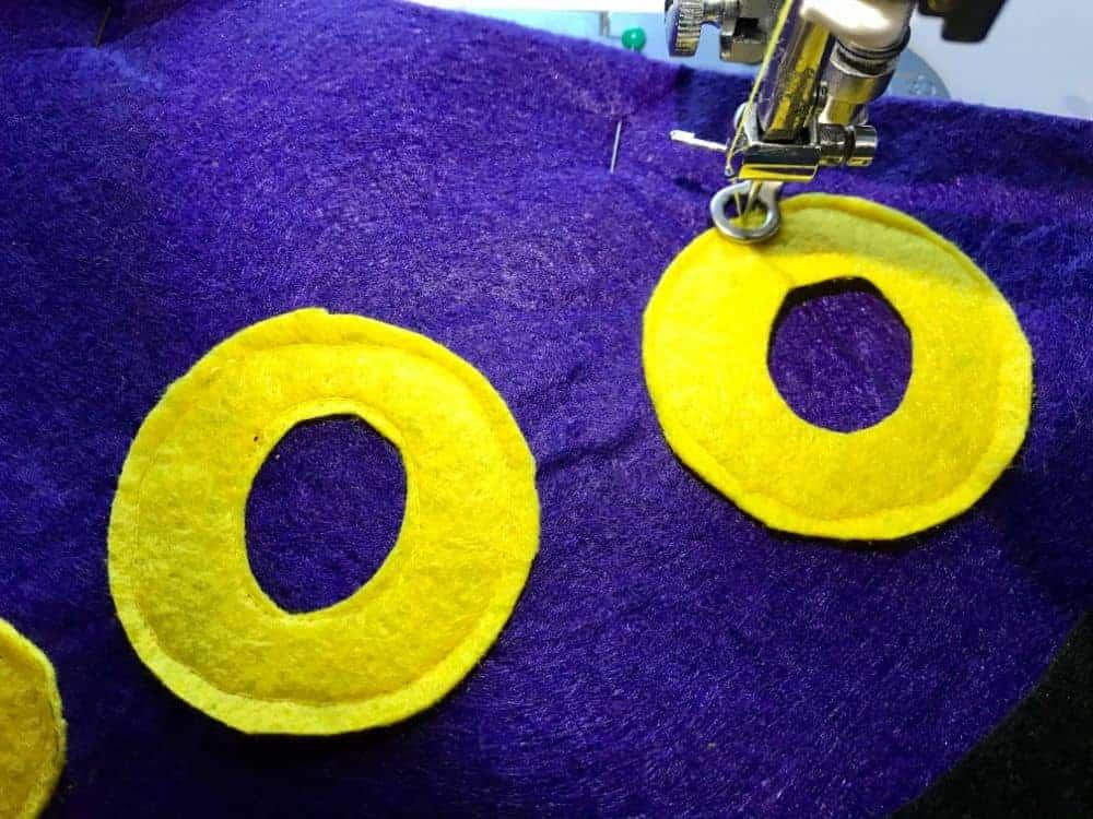 sew on the felt pieces