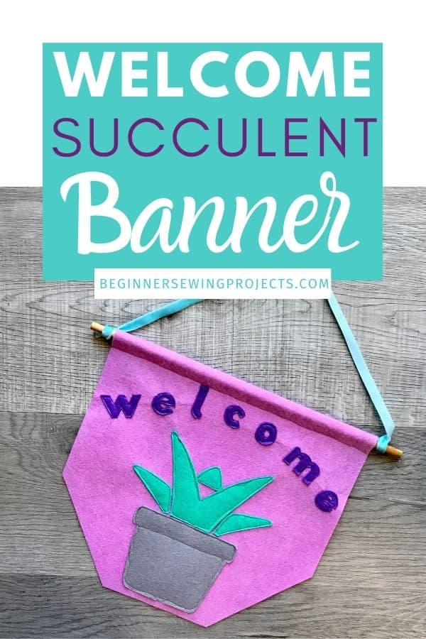 Welcome Succulent banner
