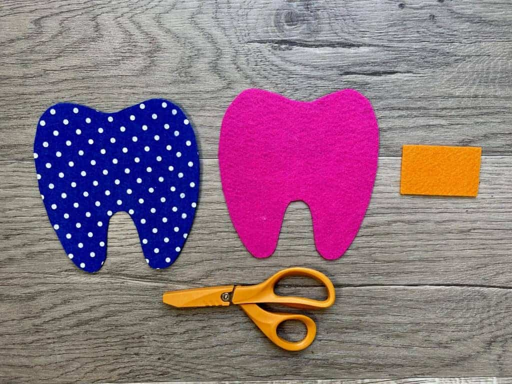 cutting out fabric for tooth fairy pillow