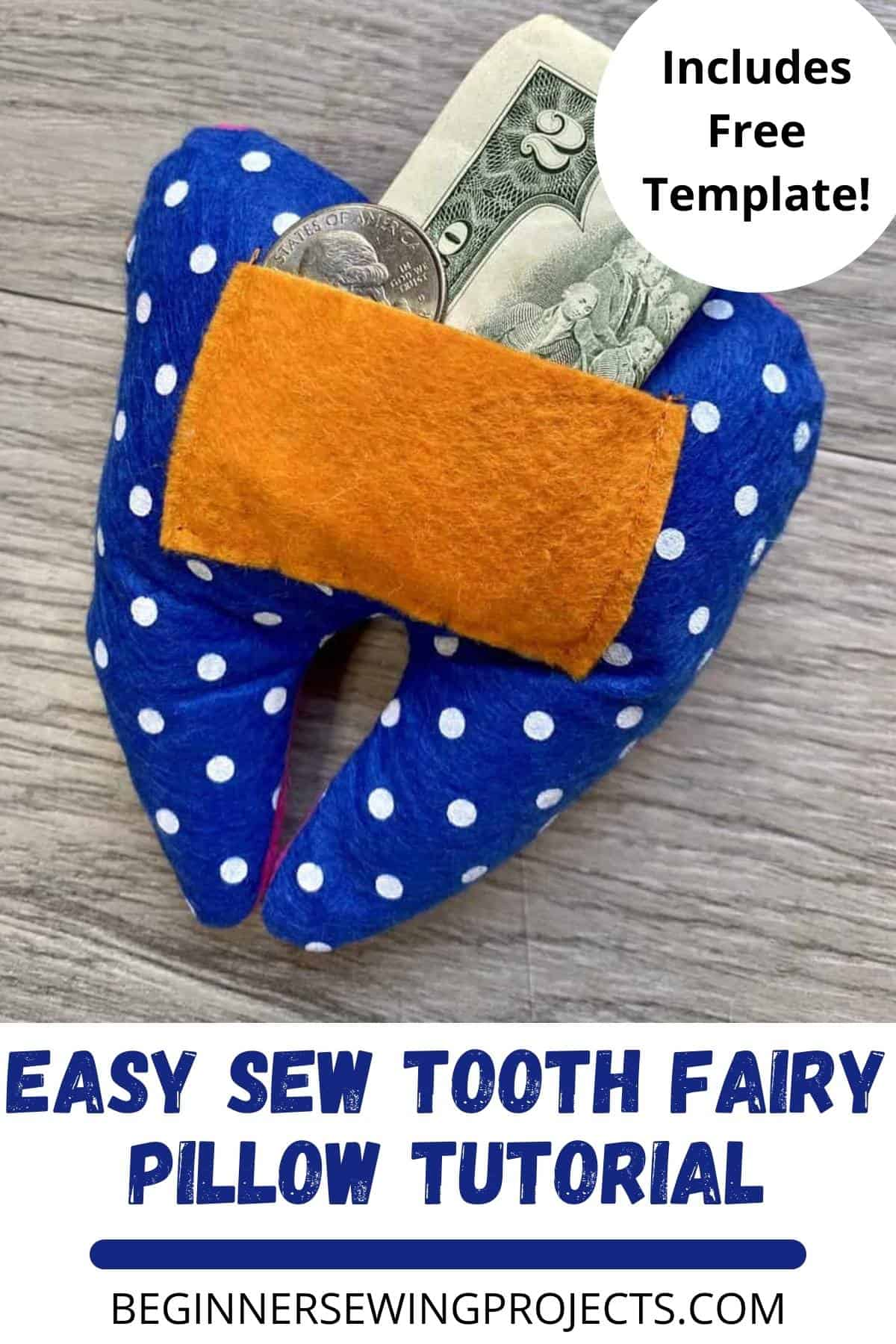 Easy Sew Tooth Fairy Pillow Tutorial