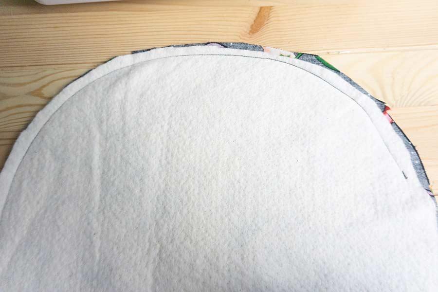 Sew Half Way Down