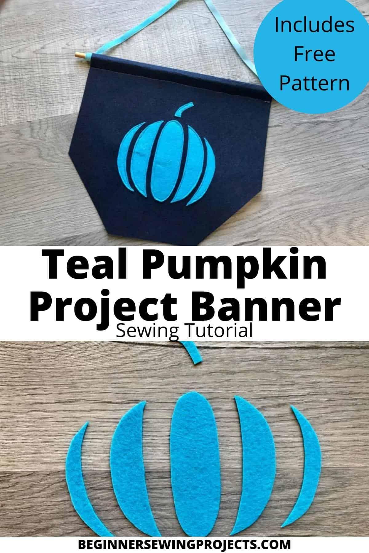 Teal Pumpkin Banner Project Sewing Tutorial