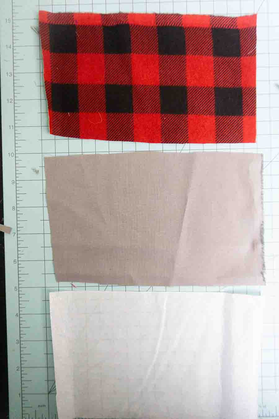 Cut fabric for wallet