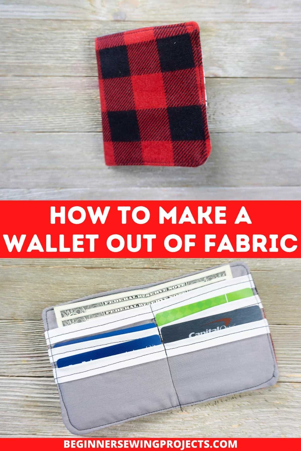 How To Make A Wallet Out Of Fabric!
