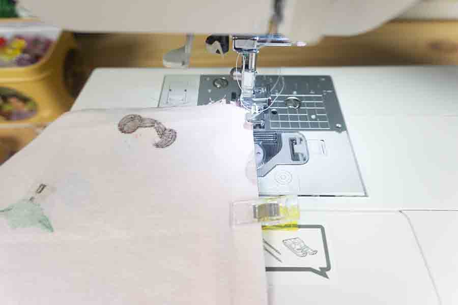 Sew clipped layers