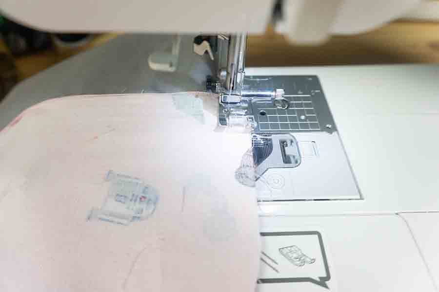 Sew around edges