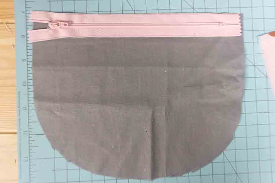 Inside fabric with zipper