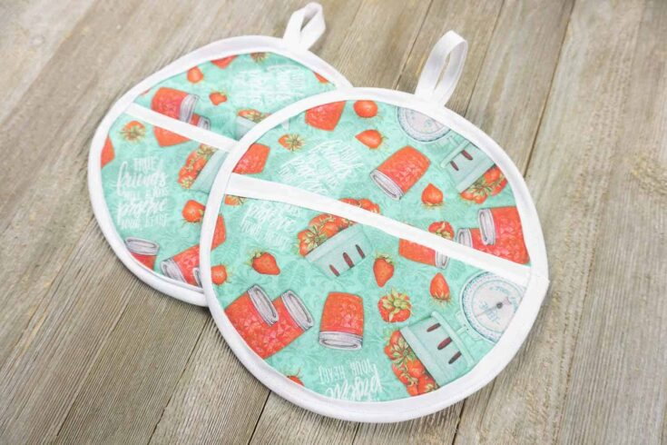 How To Sew A Round Pot Holder