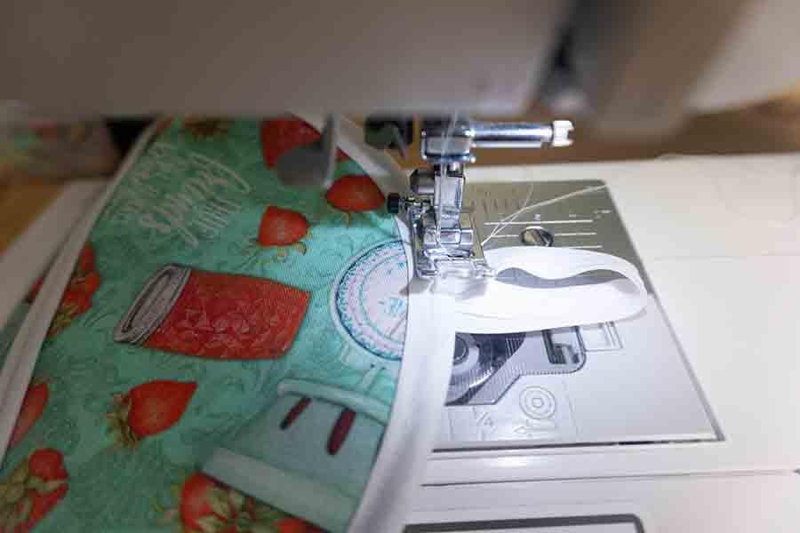 Top stitch loop on holder