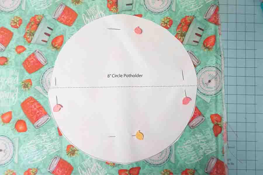 Printed pattern for round potholder
