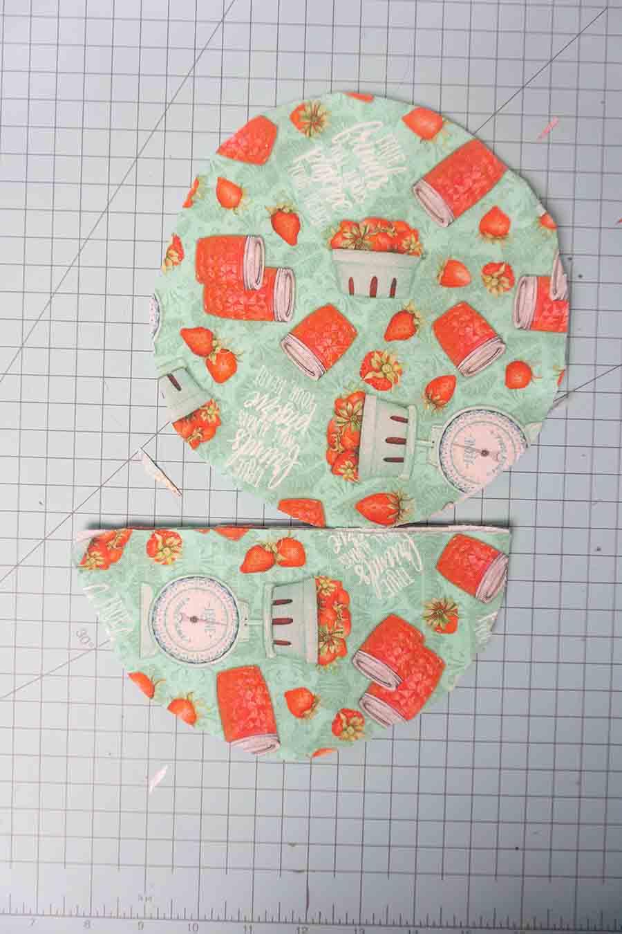 Cut fabrics from pattern