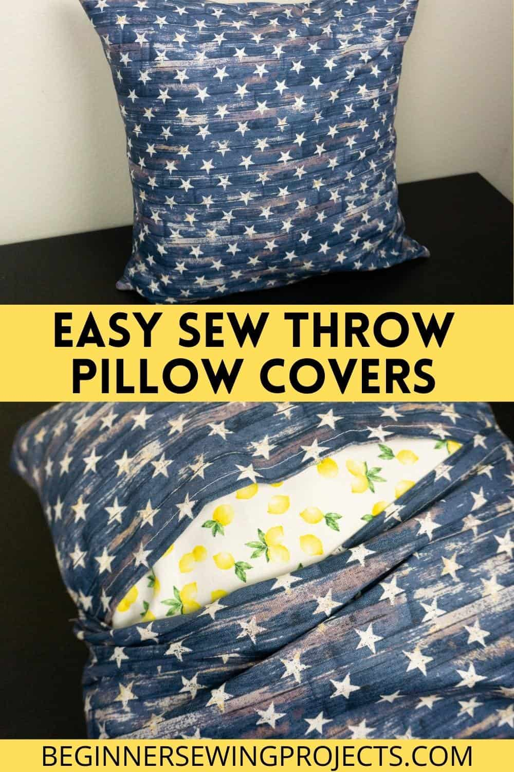Easy Sew Throw Pillow Covers