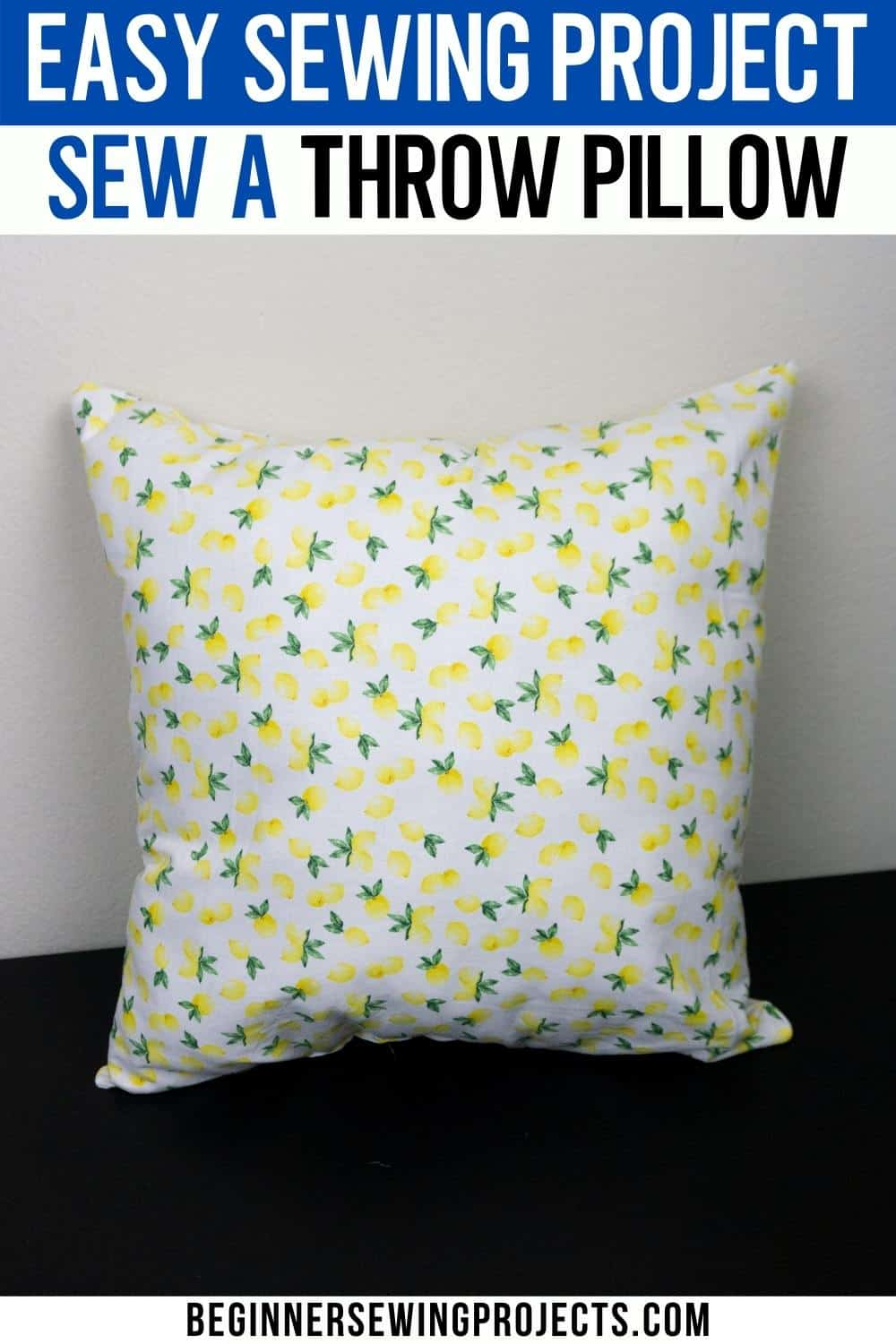 Easy Sewing Project Sew a Throw Pillow