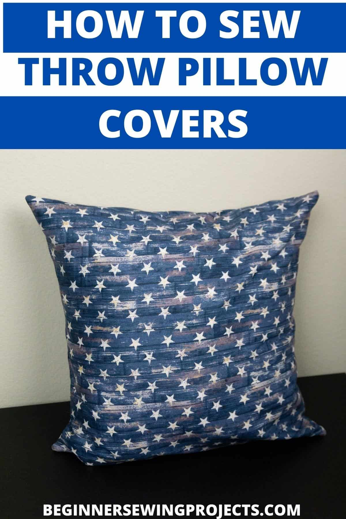 How to Sew Throw Pillow Covers