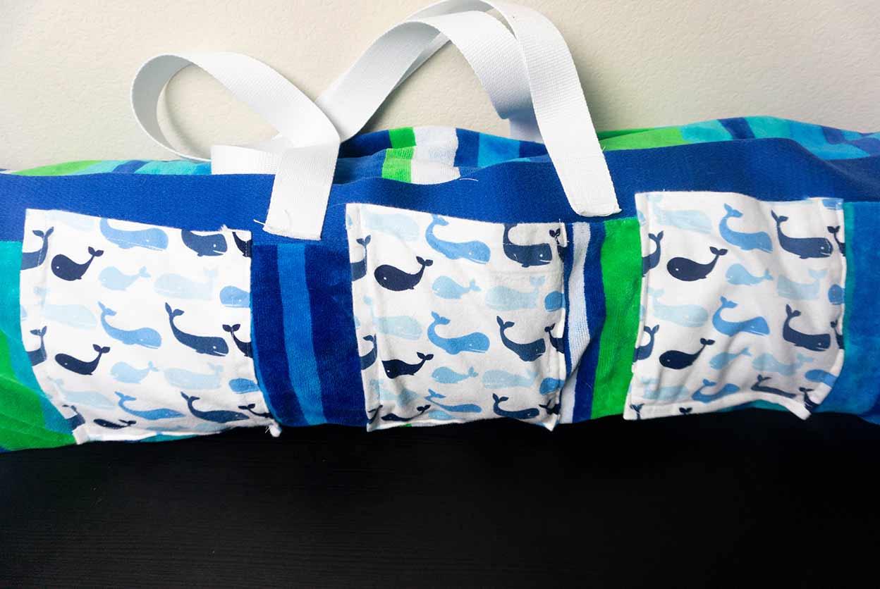 beach roll-up bag top photo