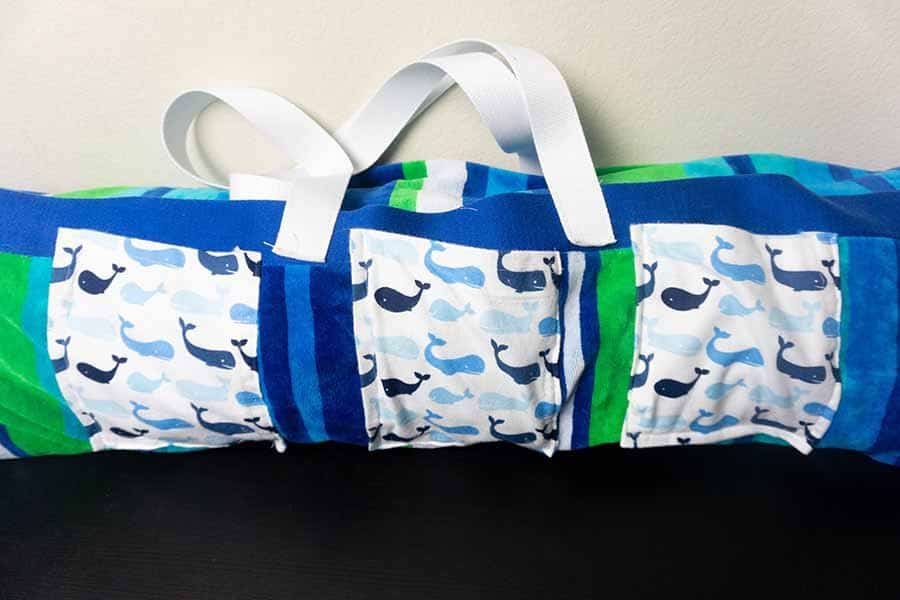finished beach roll-up bag