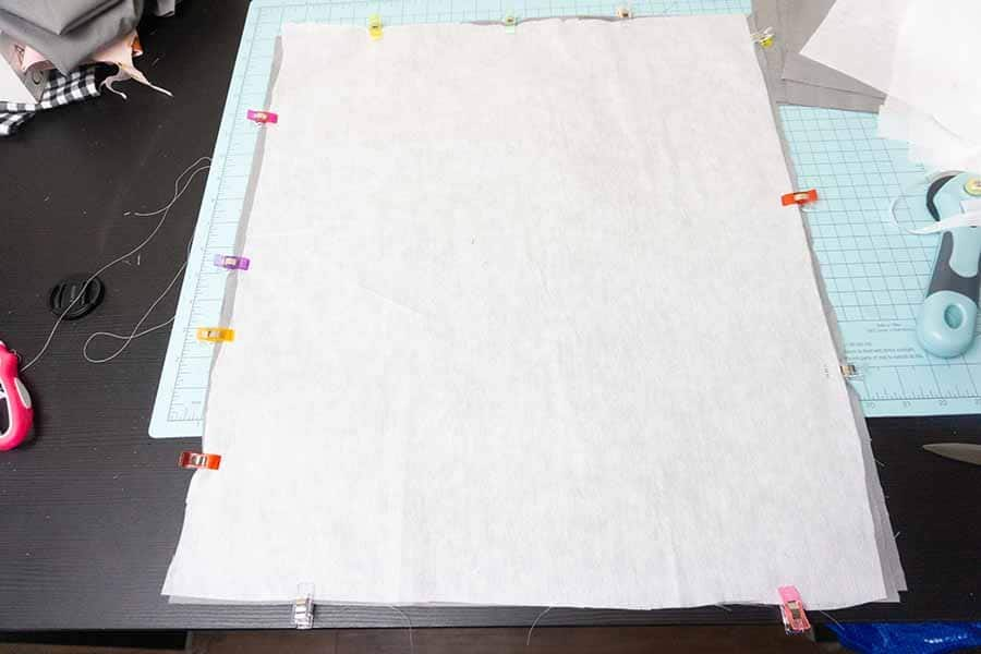 Clip layered fabrics together