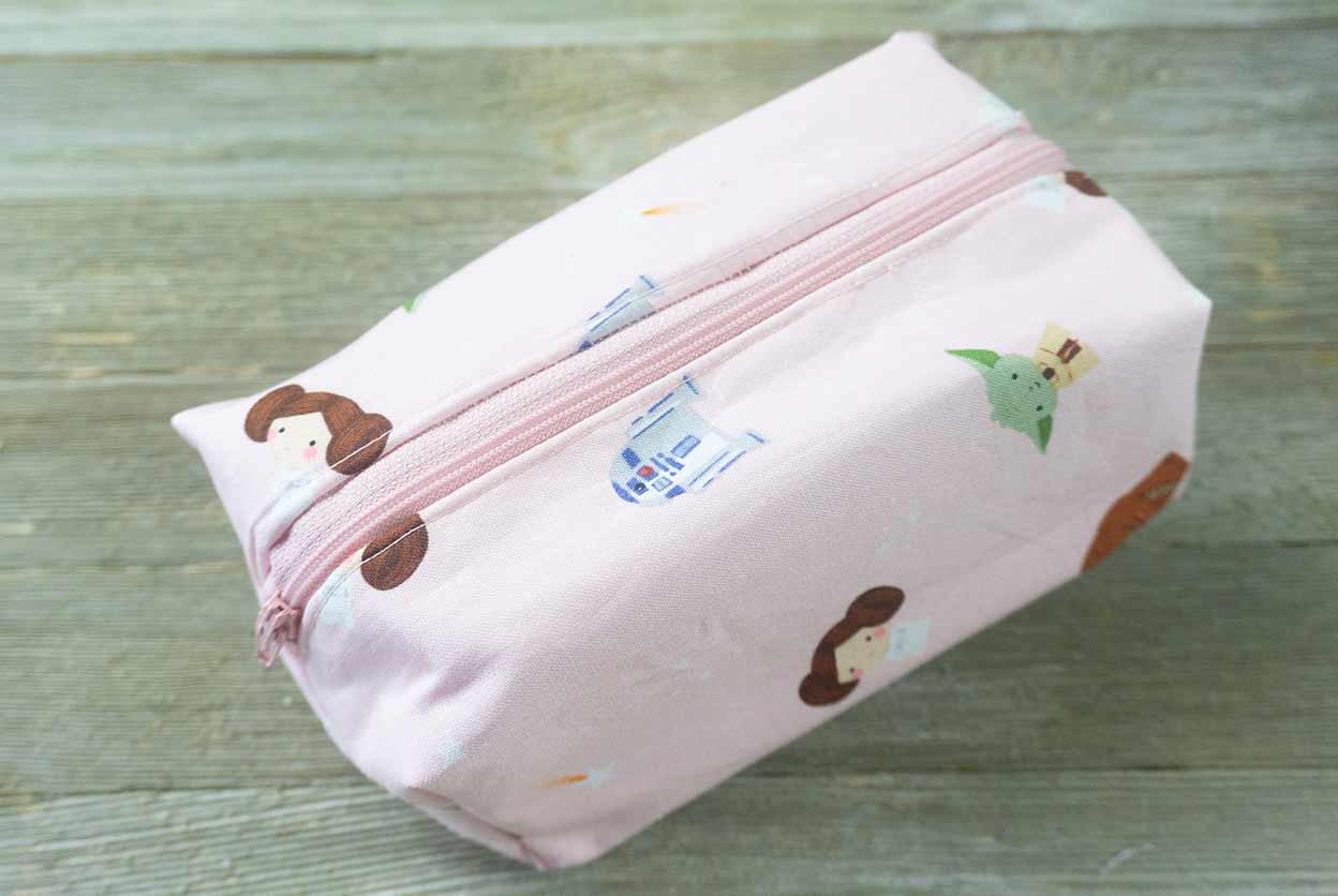 boxy cosmetic bag top photo