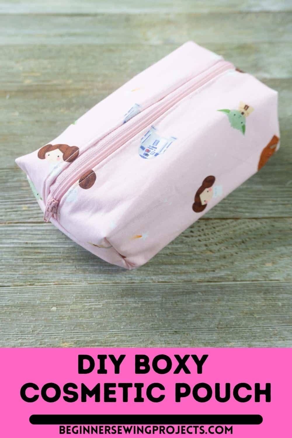 DIY Boxy Cosmetic Pouch