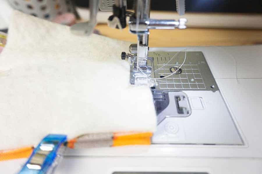 Clip and sew around edges