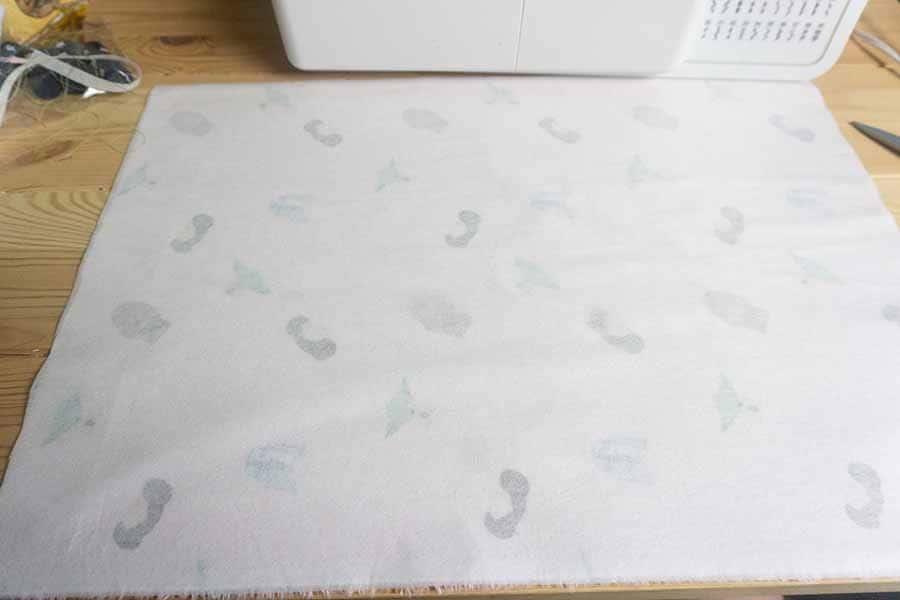 Press interfacing to fabric