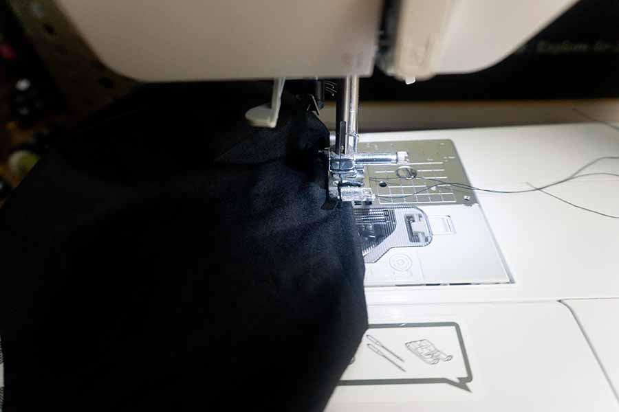 Sew hole closed