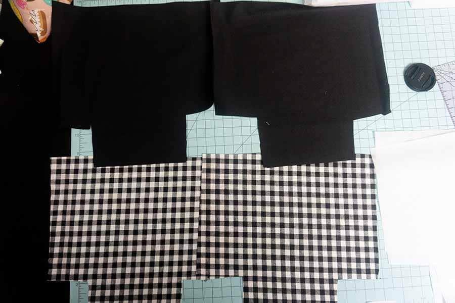 Cut out both fabrics