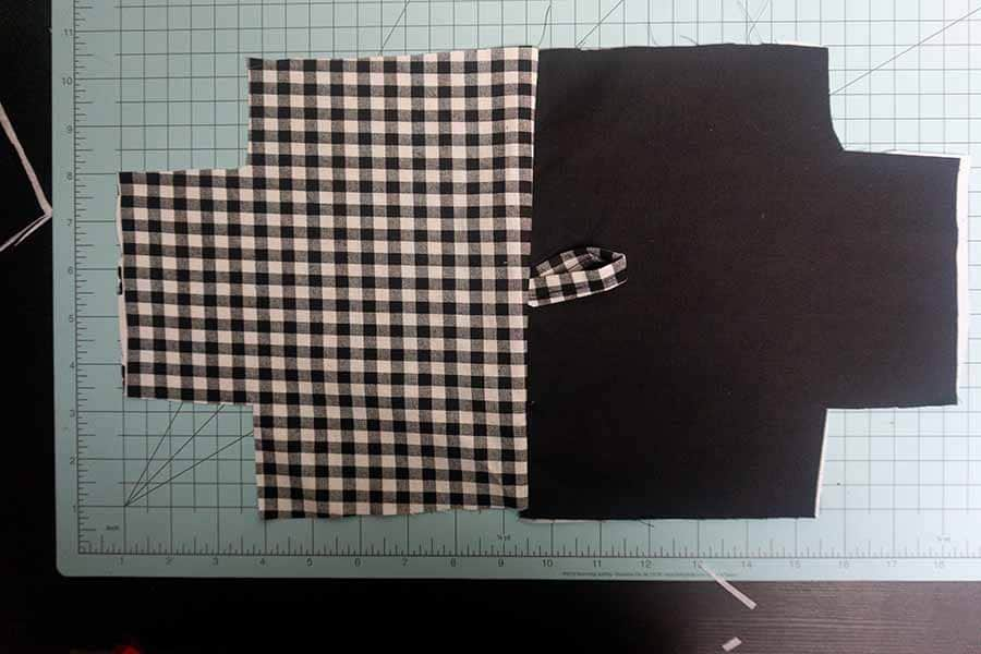 Fold, press, and stitch loop