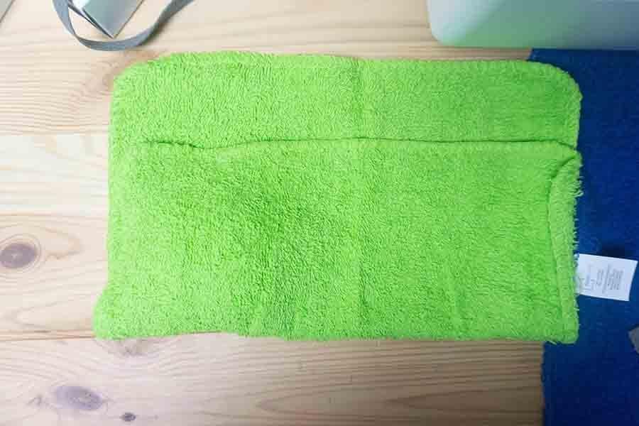 Fold washcloth up