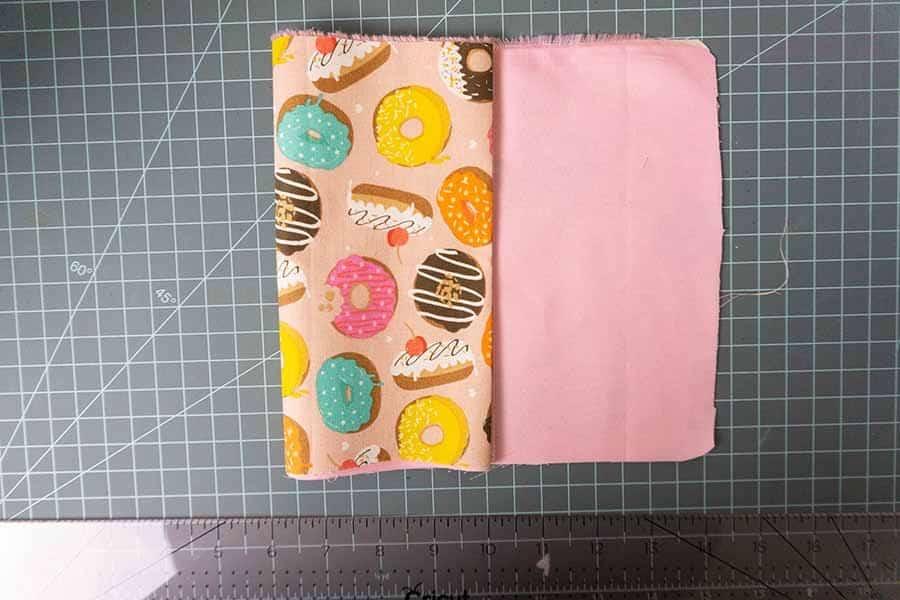 double fold fabric to make purse body