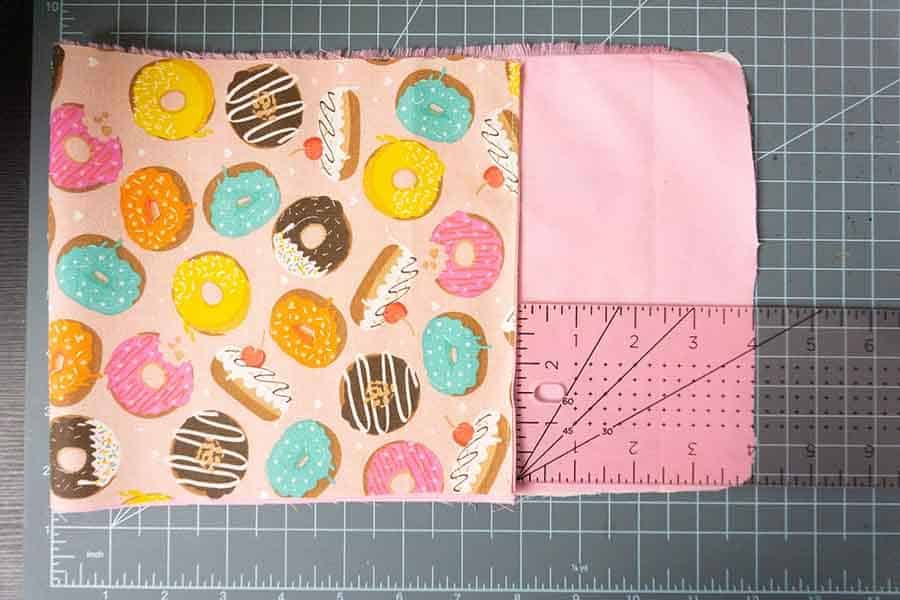 fold fabric up until you are 4 inches from top