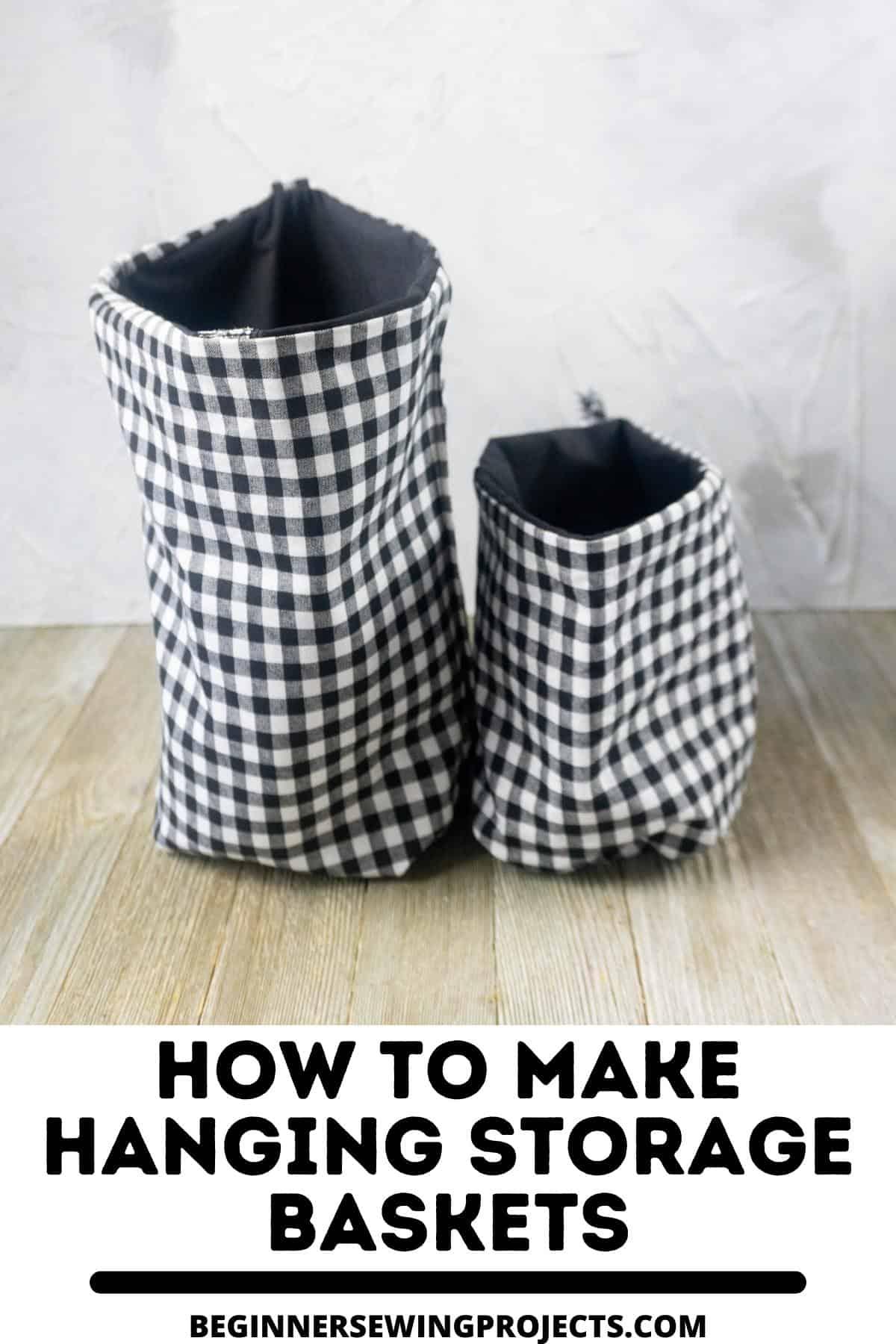 How To Make Hanging Storage Baskets