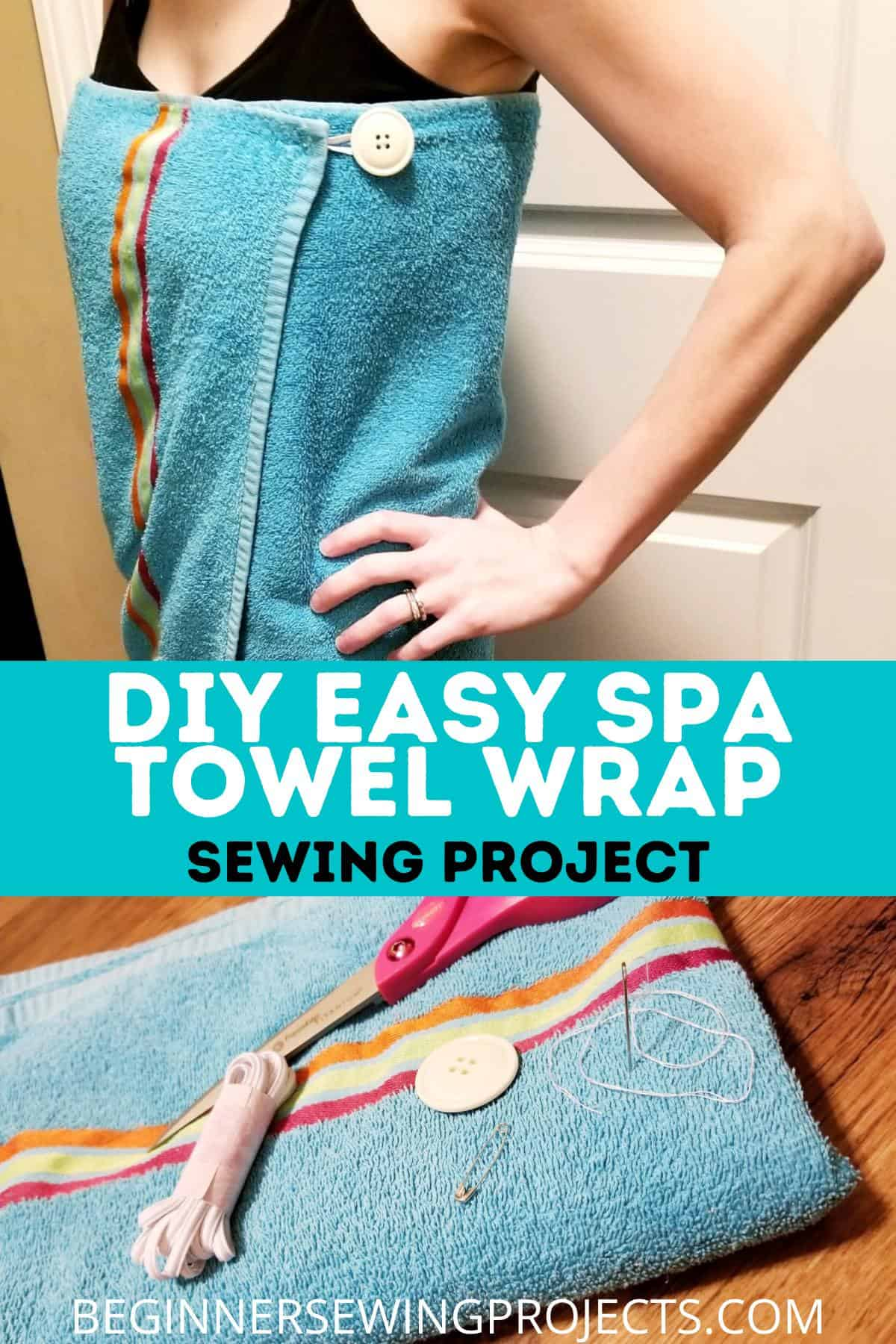 DIY Easy Spa Towel Wrap Sewing Project
