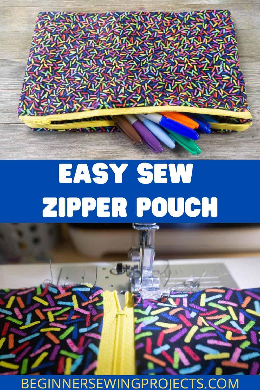 Easy Sew Zipper Pouch
